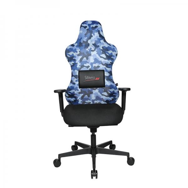 Siège de bureau e-sport en tissu militaire bleu - Sitness - 37