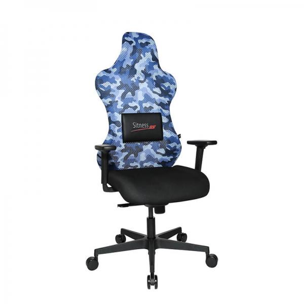 Chaise gamer assise ergonomique noire et bleue - Sitness - 41