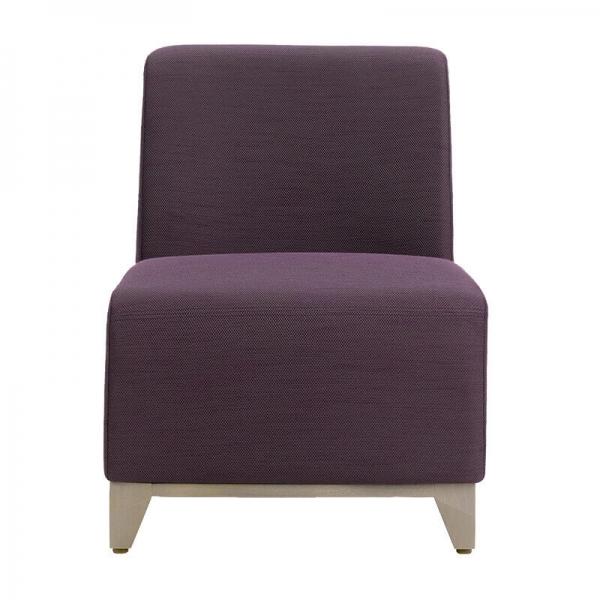 Fauteuil Mobitec assise basse en tissu violet - Borneo  - 2