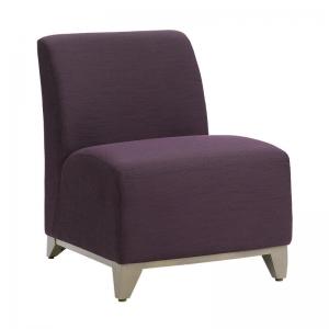 Fauteuil bas confortable en tissu violet - Borneo