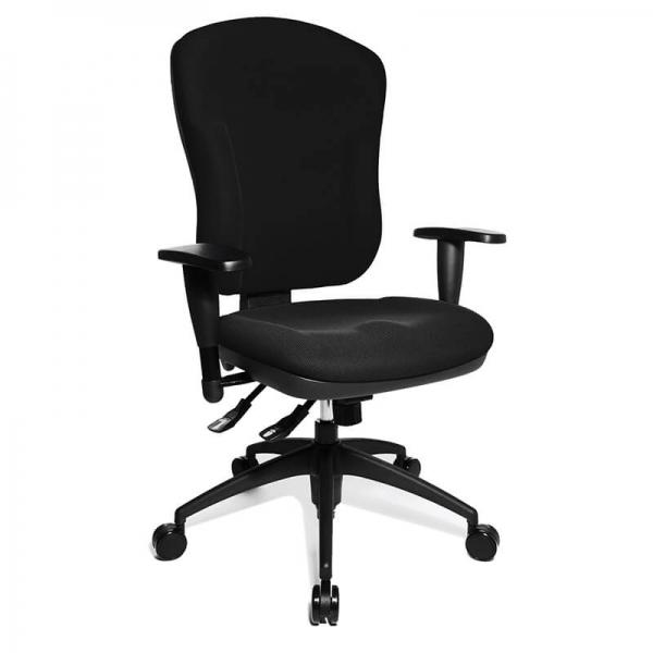 Chaise bureautique ergonomique et confortable noire - Wellpoint 30 - 1