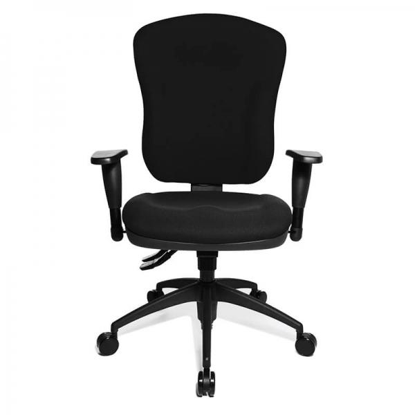 Chaise de bureau noire accoudoirs réglables - Wellpoint  - 2