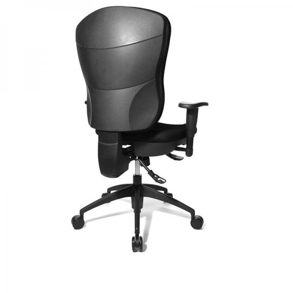 Chaise pour bureau confortable en tissu noir - Wellpoint - 6
