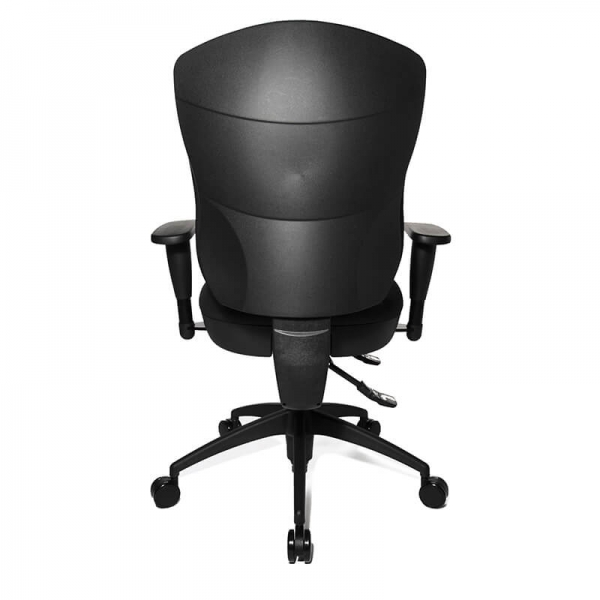 Chaise de bureau professionnel en tissu noir - Wellpoint - 7