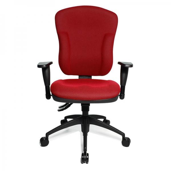 Chaise de bureau rouge avec accoudoirs réglables - Wellpoint - 9
