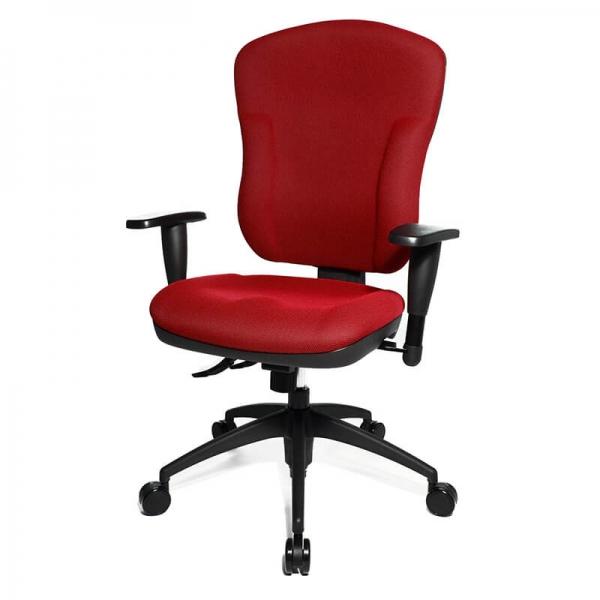 Chaise bureautique inclinable et réglable rouge - Wellpoint  - 10