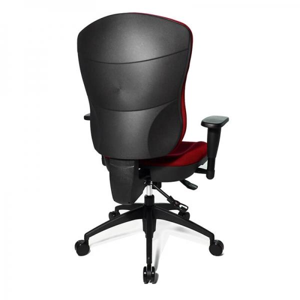 Chaise de bureau avec accoudoirs réglables rouge - Wellpoint - 11
