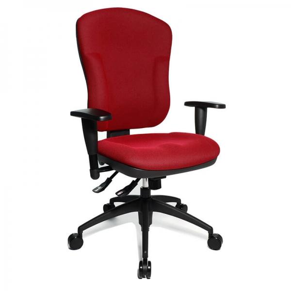 Chaise de bureau professionnel en tissu rouge - Wellpoint - 8
