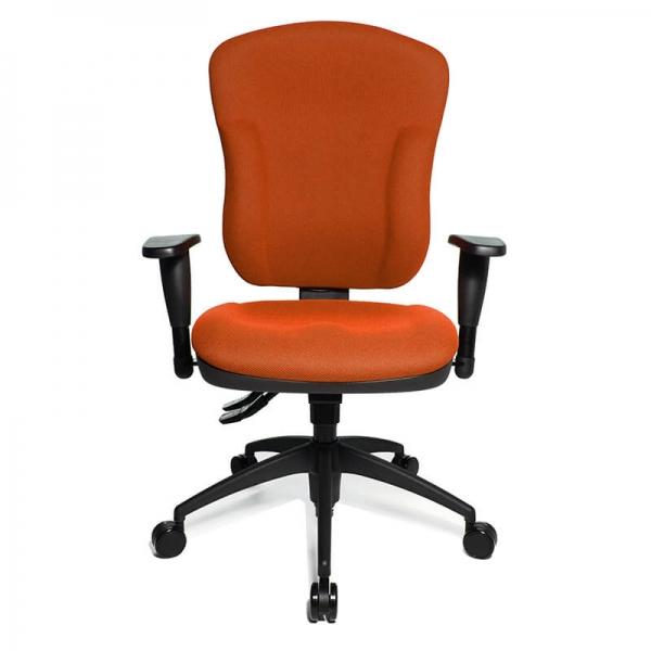 Siège de bureau orange avec roulettes et dossier inclinable - Wellpoint - 15