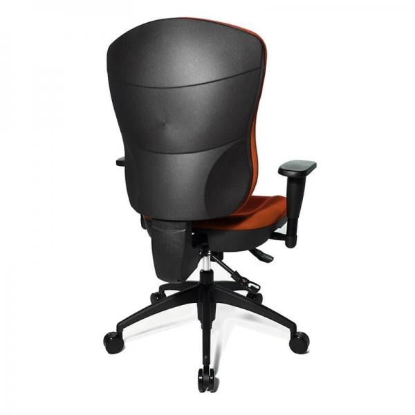 Chaise bureautique en tissu orange réglable - Wellpoint - 17