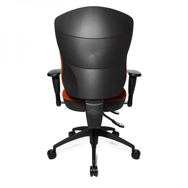 Chaise de bureau en tissu orange assise galbée - Wellpoint - 19