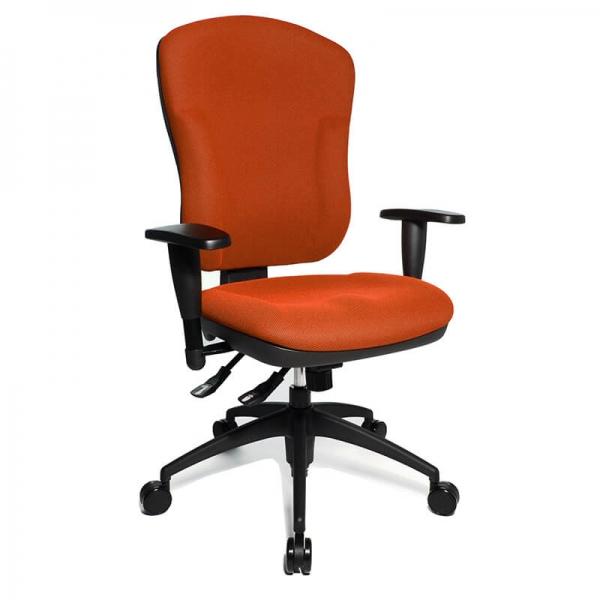 Siège de bureau réglable en tissu orange - Wellpoint - 14
