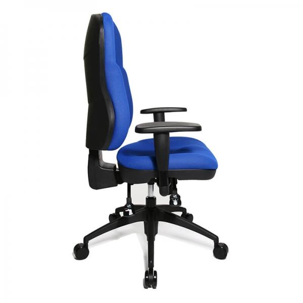 Chaise bureau ergonomique et confortable en tissu bleu - Wellpoint - 24