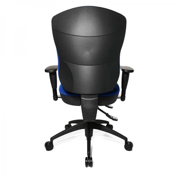 Siège de bureau bleu avec accoudoirs réglables - Wellpoint - 25