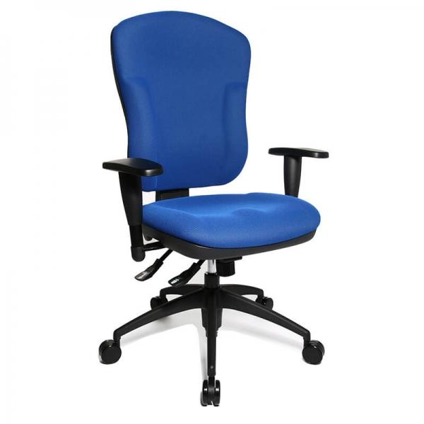Chaise de bureau bleue en tissu avec dossier inclinable - Wellpoint - 20
