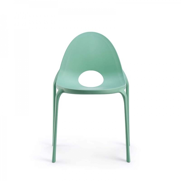 Chaise vert eau design empilable en polypropylène - Drop Infiniti® - 9