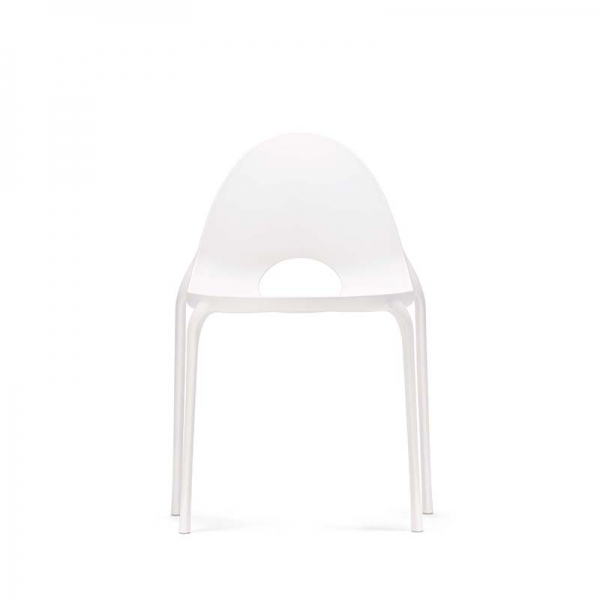 Chaise blanc design empilable en polypropylène - Drop Infiniti® - 12