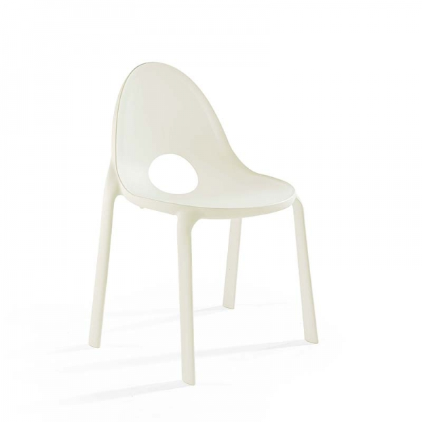 Chaise blanc design empilable en polypropylène - Drop Infiniti® - 13