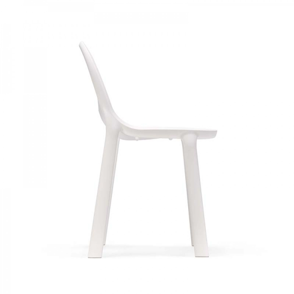 Chaise blanc design empilable en polypropylène - Drop Infiniti® - 14