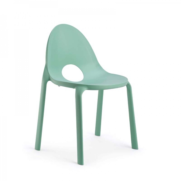 Chaise vert eau design empilable en polypropylène - Drop Infiniti® - 7