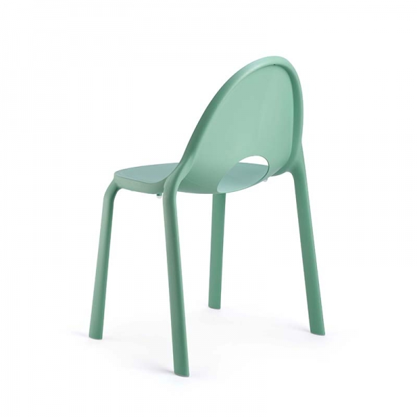 Chaise vert eau design empilable en polypropylène - Drop Infiniti® - 8