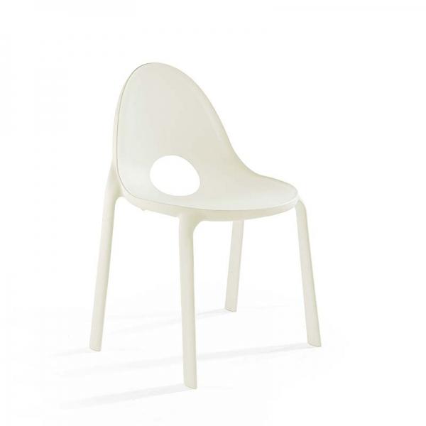 Chaise d'extérieur en plastique blanc - Drop Infiniti® - 12