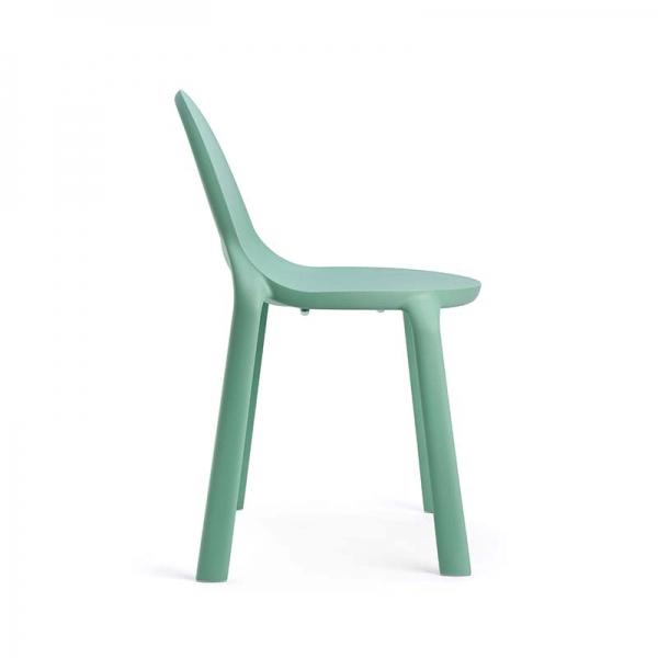 Chaise d'extérieur en plastique vert eau - Drop Infiniti® - 10