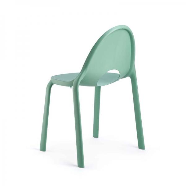 Chaise d'extérieur en plastique vert eau - Drop Infiniti® - 8