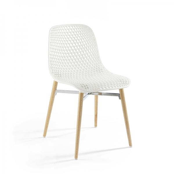 Chaise design Next Infiniti® - Piétement hêtre massif laqué & assise polycarbonate - 11