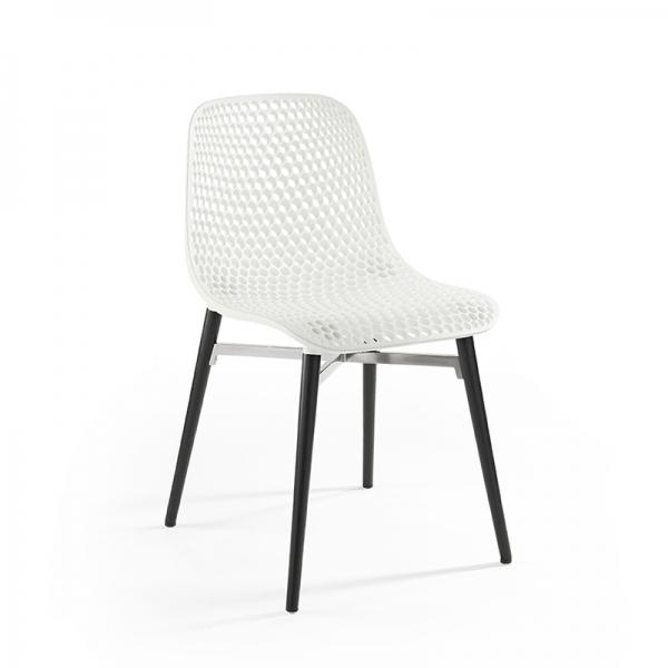 Chaise design Next Infiniti® - Piétement hêtre massif laqué & assise polycarbonate - 10