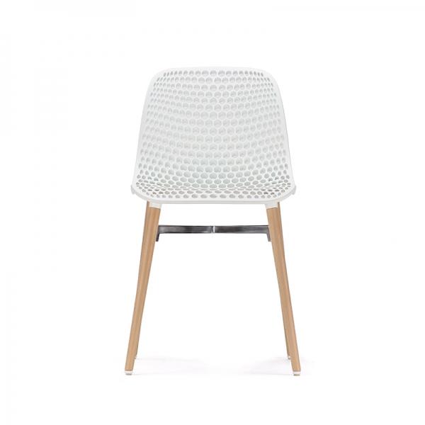 Chaise design Next Infiniti® - Piétement hêtre massif laqué & assise polycarbonate - 13