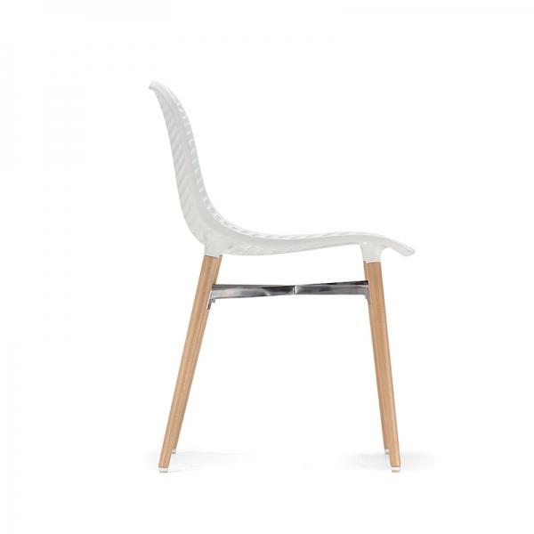 Chaise design Next Infiniti® - Piétement hêtre massif laqué & assise polycarbonate - 12