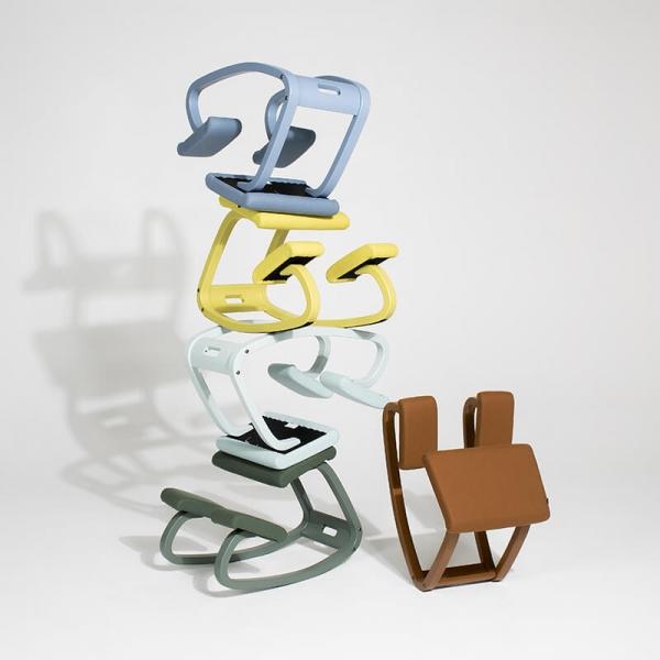 Chaise de bureau ergonomique à bascule en tissu - Variable Monochrome Varier® - 4