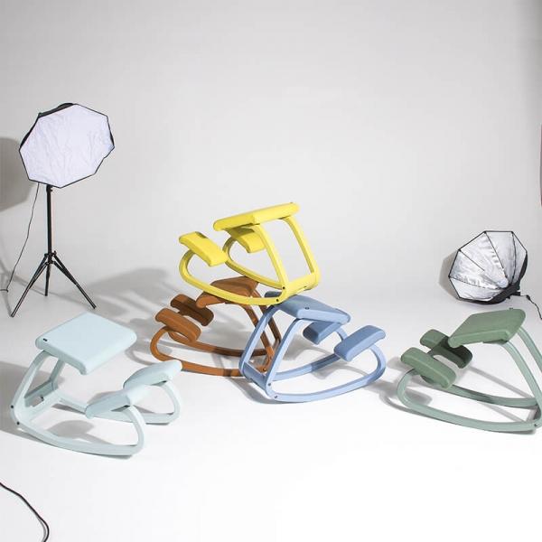 Chaise de bureau ergonomique à bascule en tissu - Variable Monochrome Varier® - 18