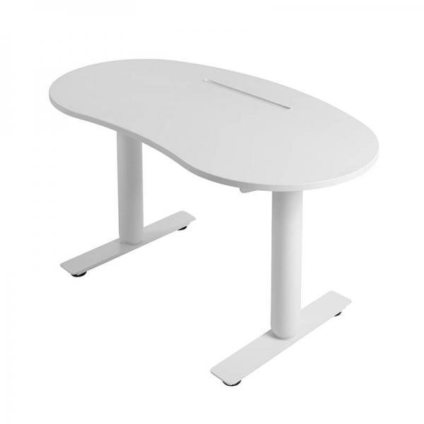 Bureau assis debout électrique ergonomique blanc - Sitness X Up 10 - 6