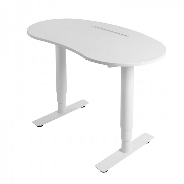 Bureau assis debout réglable en hauteur blanc - Sitness X Up 10 - 7