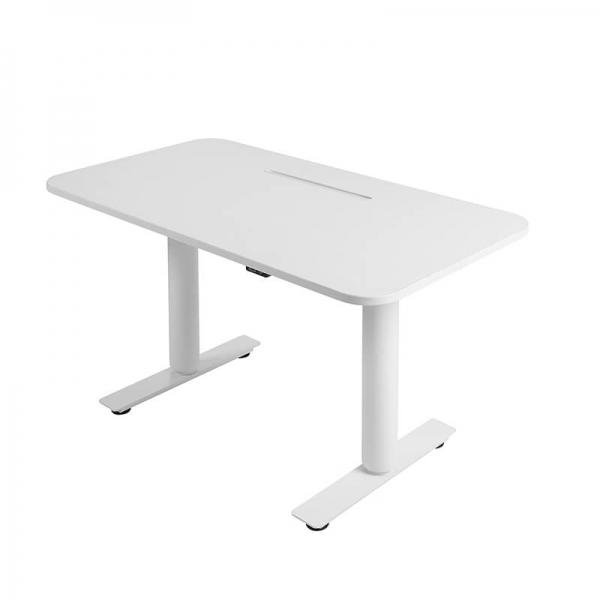 Bureau motorisé relevable et abaissable blanc - Sitness X - 2
