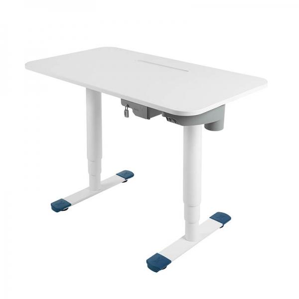 Bureau ergonomique électrique blanc - Sitness X - 14