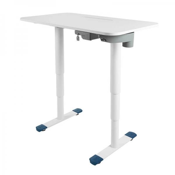 Bureau ergonomique réglable en hauteur électrique blanc - Sitness X - 15