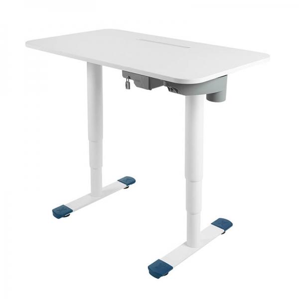 Bureau de travail ergonomique réglable blanc - Sitness X - 16