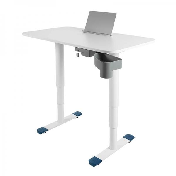 Bureau ergonomique motorisé relevable et abaissable blanc - Sitness X - 25