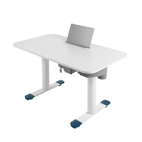 Bureau motorisé blanc hauteur réglable - Sitness X - 31