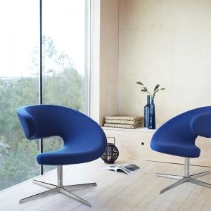 Fauteuil de relaxation design et inclinable en tissu – Peel Club Varier®