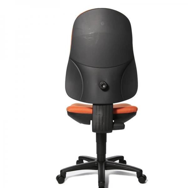 Chaise bureautique en tissu orange – Support P - 5