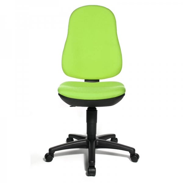 Chaise bureautique en tissu vert – Support P - 8