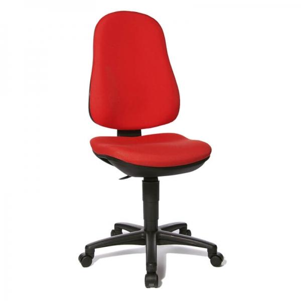 Chaise bureautique en tissu rouge – Support P - 17