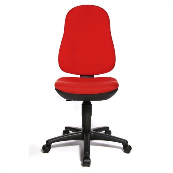 Chaise bureautique réglable rouge – Support P - 18