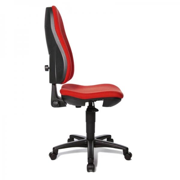 Chaise de bureau réglable en hauteur avec tissu rouge – Support P - 19
