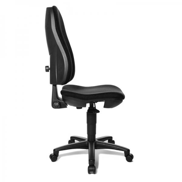 Chaise bureautique noire réglable avec des roulettes – Support P - 14
