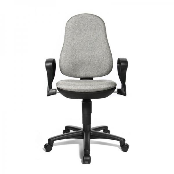 Chaise bureautique en tissu gris – Support P - 34